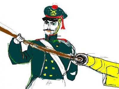 Работа Кобелевой Анастасии. Артиллерист, 1812 год