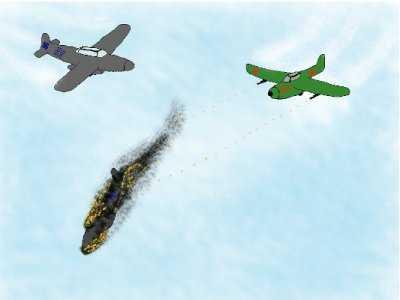 Работа Тимофеева Ильи, Воздушный бой