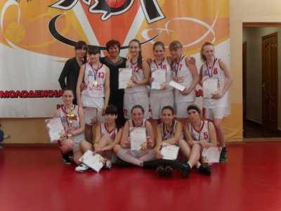 Девичья баскетбольная команда школы № 80 г.Хабаровска